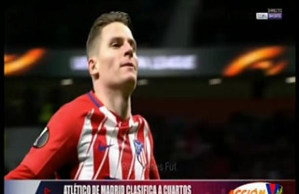 Atlético de Madrid clasificó a cuartos de la Europa League