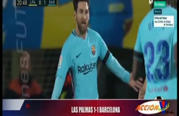 Barcelona igualó sorpresivamente ante Las Palmas