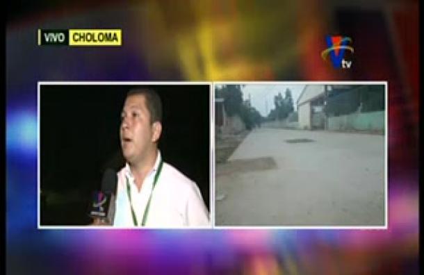 Choloma: Autoridades trabajan en pavimentación de carretera