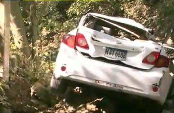 Cuatro personas heridas deja accidente de tránsito en Colonia Sagastume