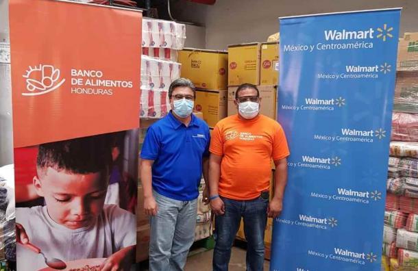 Walmart dona 8,357 kilos de víveres al Banco de Alimentos Honduras