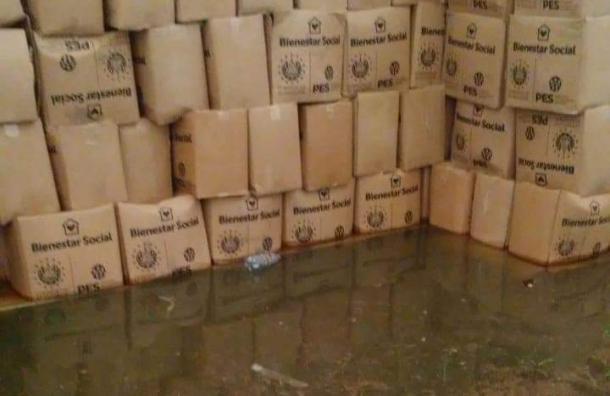 Copeco se pronuncia sobre cajas con alimentos donadas por El Salvador que se dañaron