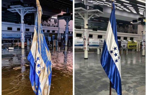 Resplandece el Villeda Morales  y con él nuestro pabellón nacional