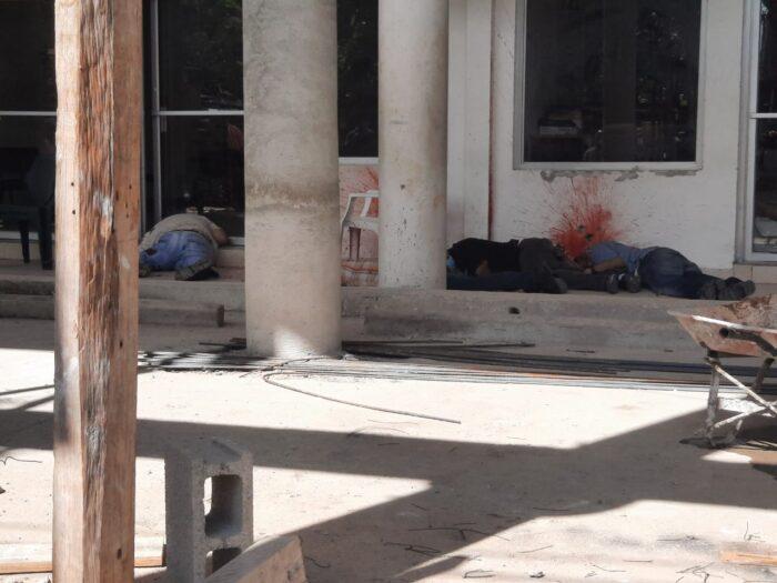 Masacre entre la 3 y 2 calle en Parque Central de SPS