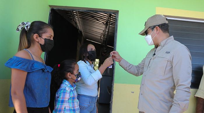 Viviendas en Morolica entregadas por el gobierno