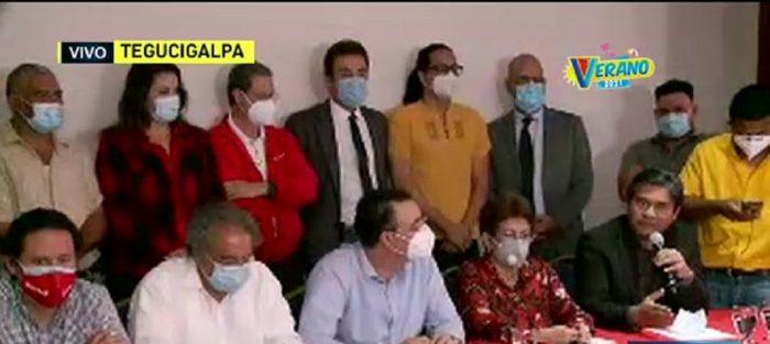 Partidos políticos ofrecen conferencia de prensa