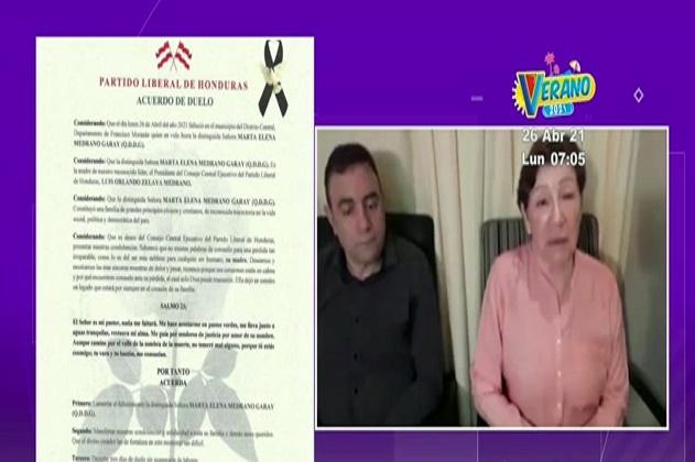Madre de Luis Zelaya fallece a causa del Covid-19