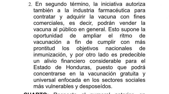 Empresa privada venderá vacuna en Honduras
