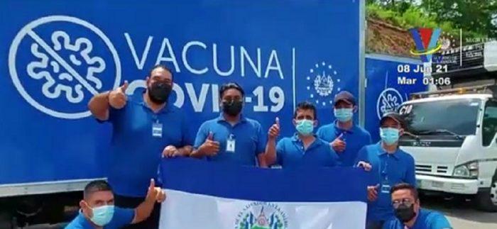Llegan a  Honduras 16 mil dosis de vacuna contra covid-19 donadas por El Salvador