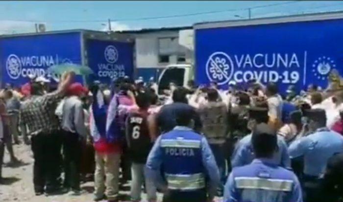 Honduras recibe las 16 mil dosis de vacunas anticovid, donadas por El Salvador