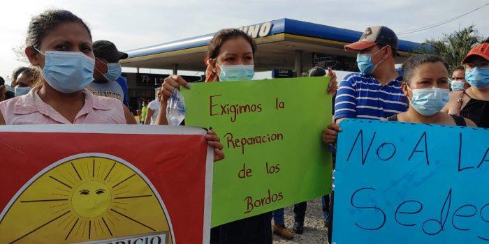 Enfrentamientos en Chamelecón