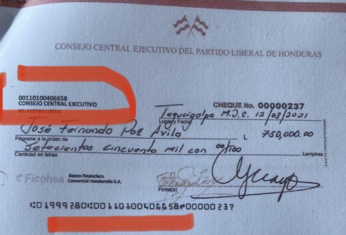 Cheque del PL
