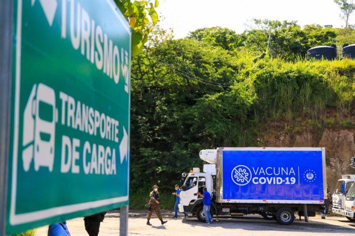Vacunas donadas por El Salvador