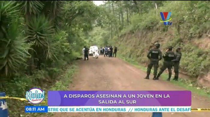 Asesinan a joven en la salida al sur en la capital