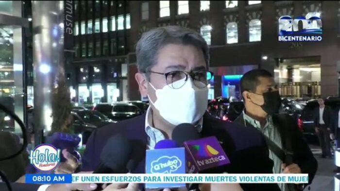 Presidente Hernández ya está en Estados Unidos para ser parte de la Asamblea Gral de la ONU