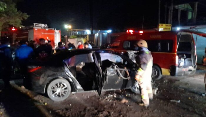 Cinco muertos y un herido en aparatoso accidente vial en Choloma