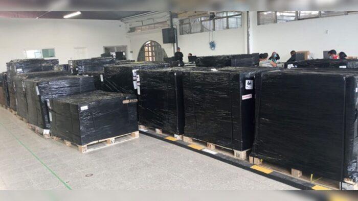 CNE recibe segundo lote del equipo de transmisión de resultados TREP