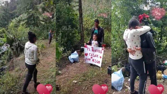 La romántica y humilde propuesta de matrimonio de un joven campesino se hace viral