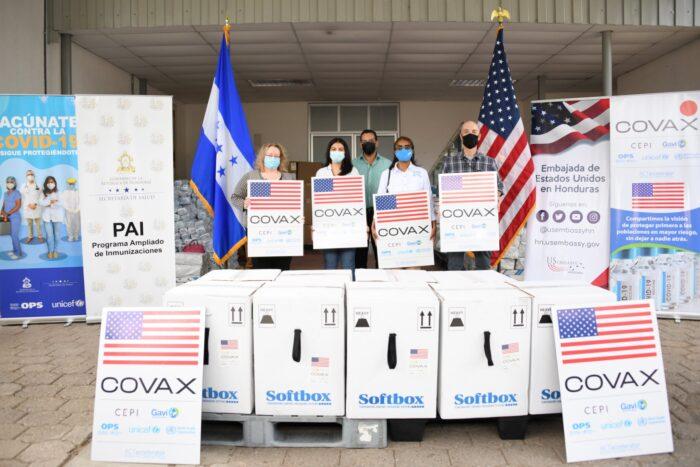Honduras recibe 101,790 vacunas anticovid de Pfizer donadas por EEUU
